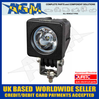 Durite 0-420-51 12/24v LED Compact Round Spot/Driving Lamp (Black Casing)