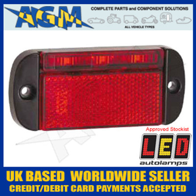 LED Autolamps 44RME 12/24v LED RED Rear Marker Lamp with Reflector