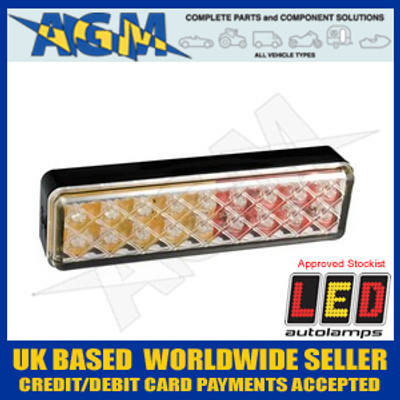 LED Autolamps 135ARME Stylish CLEAR 12/24v Stop/Tail/Indicator Lamp