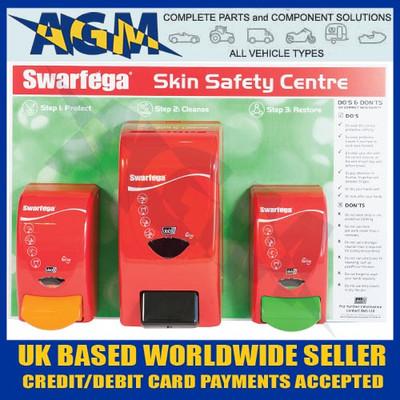 Deb Swarfega SSC1EACH Workshop/Garage Skin Safety Board with 3 Dispensers