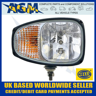 HELLA 1LE996174-321 C220 Right Head Lamp with Built In Flasher Lamp