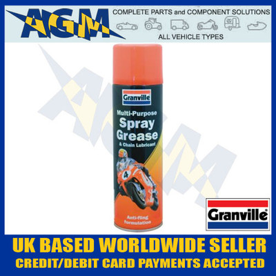 Granville 0088 Multi- Purpose Spray Grease and Chain Lubricant 500ml Aerosol