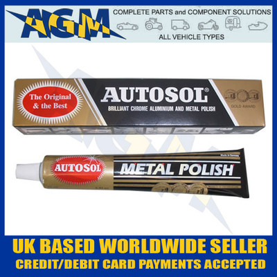 AUTOSOL GVL0400 (Solvol) Metal Polish - Paste Tube - 75ml