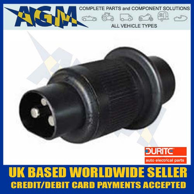 durite, 0-365-16, non, reversable, 3 pin, trailer, plug, 130307, socket