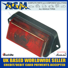 Rubbolite, 550/02/00, Red, Front Marker Light,