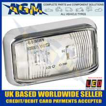 LED Autolamps 58CWMEB White Marker Lamp With Chrome Bracket