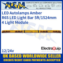 EQLB604WA LED Lighbar Amber Four Light Module 5ft/1524mm