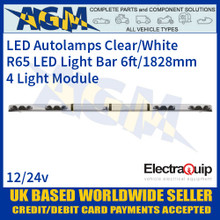 EQLB724AC LED Lightbar Clear/White Four Light Module 6ft/1828mm