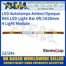 EQLB724WA/O LED Lightbar Amber/Opaque Four Light Module 6ft/1828mm