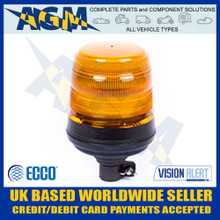 ecco, vision, alert, 5l4.204, 400, economy, flexi, din, amber, led, quad, flash, beacon, 12v, 24v