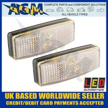 led, autolamps, 1490wm, pair, white, front, marker, lamp, 12v, 24v