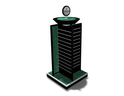 Point of sale display tower - Guinness Golf