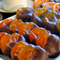 Orange, Apricot, and Fig Slices from Australia dipped in our delicate chocolate.  Dark Chocolate only.