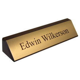 "Classic Wooden Desk Sign - 2"" x 10¼"""