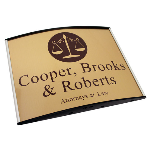 Image 1  sc 1 st  Signs 4 Work & Curved Door Office \u0026 Wall Signs - Curved Suite Door Sign: 8½\