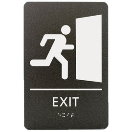 "Exit with Graphic - 8¾"" x 5¾"""