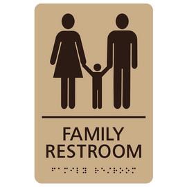 "Family Restroom - 8¾"" x 5¾"""