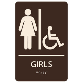 "Girls Accessible - 8¾"" x 5¾"""