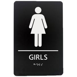 """Girls Restroom - 8¾"""" x 5¾"""""""