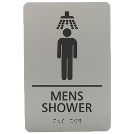 "Men's Shower - 8¾"" x 5¾"""