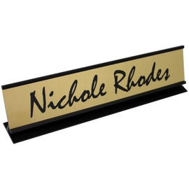 "Professional Framed Nameplate - 2"" x 10"""