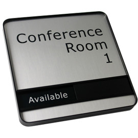 "Profile Framed Sliding Conference Sign - 6"" x 6"""