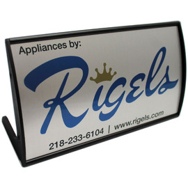"Rounded Reception Desk Sign - 4"" x 8"""
