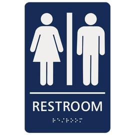 "Unisex Restroom - 8¾"" x 5¾"""