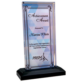 These custom awards offer unlimited design options paired with a quality, premier acrylic.