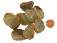 Green Onyx Tumbled Stone - Large