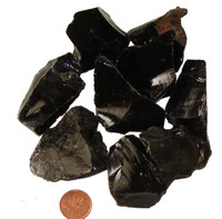 Silver Sheen Natural Obsidian Stone - large