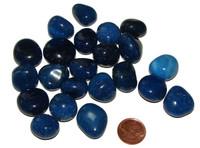 Blue Onyx Tumbled Stones - Small