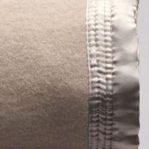 Mocha Queen Bed Wool Blanket