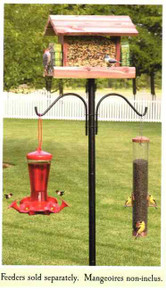 Bird Feeder 5ft Pole Post Plus Decorative Hangers