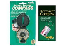 Campers Scouts Compass and Zipper Pull Hiking Trekking Thermometer Compass