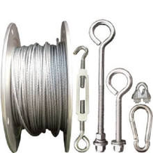 Batting Cage Cable Kit Outdoor Installation Hardware