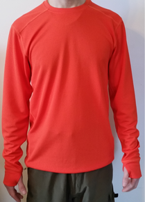 Narragansett Traders Orange Hiking Hunting Running Moisture Wicking Long Sleeve Shirt