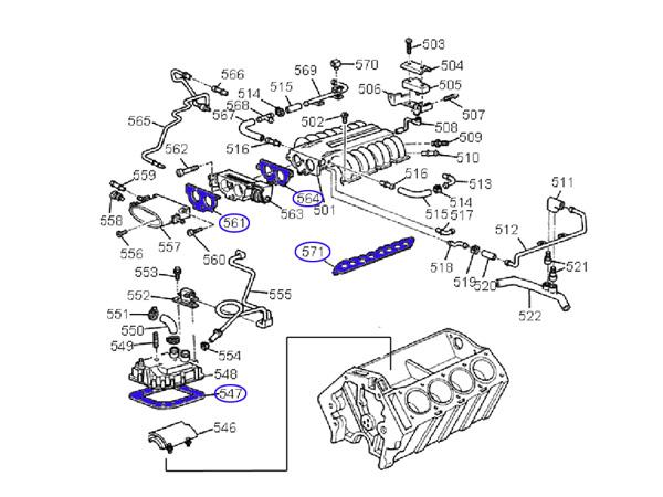 gasket set intake plenum 3 64 90 95 11d3 jerrys gaskets rh jerrysgaskets com LT1 Engine Lt5 5 7 Liter V8 Engine