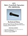 Tech Data : LT5 Cam Bolt
