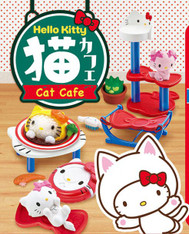 Hello Kitty Cat Cafe Re-ment, WITH DISPLAY (SOLD OUT)