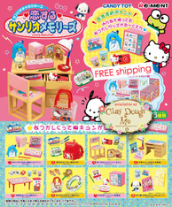 Re-ment Sanrio Lovely Memories, Re-ment Hello Kitty Nostalgic Items 2, with DISPLAY