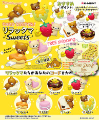 AUG'18 Re-ment Rilakkuma Sweets Cord Keeper (ONLY for 3.8 mm thickness or less)