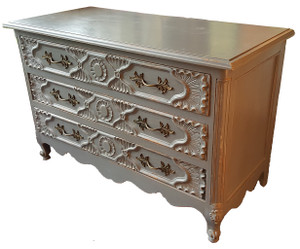 Carved Dresser in Dove Grey