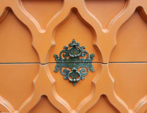 Modernist Dresser in Coral Orange