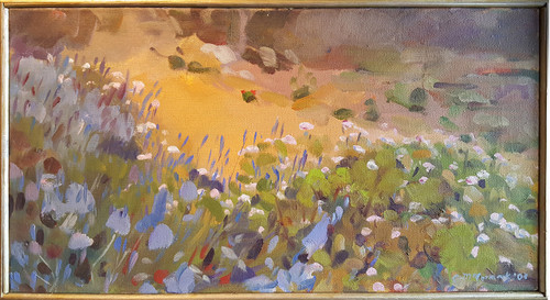 Field of Flowers Oil on Canvas by Catherine McCormick
