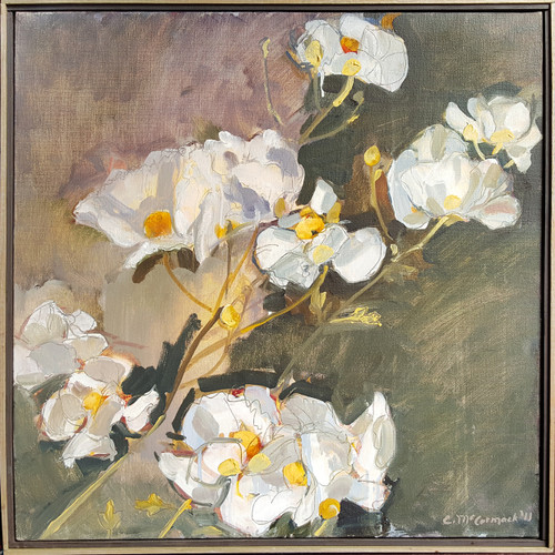 Dogwood Oil on Canvas by Catherine McCormack