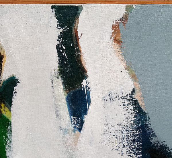 Abstract Oil on Canvas Detail 2