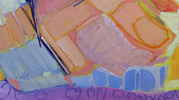 Acrylic on Board by Lois Foley