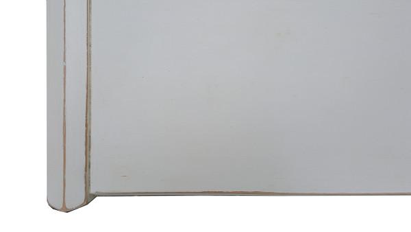 Mid Century Geometric Dresser in White