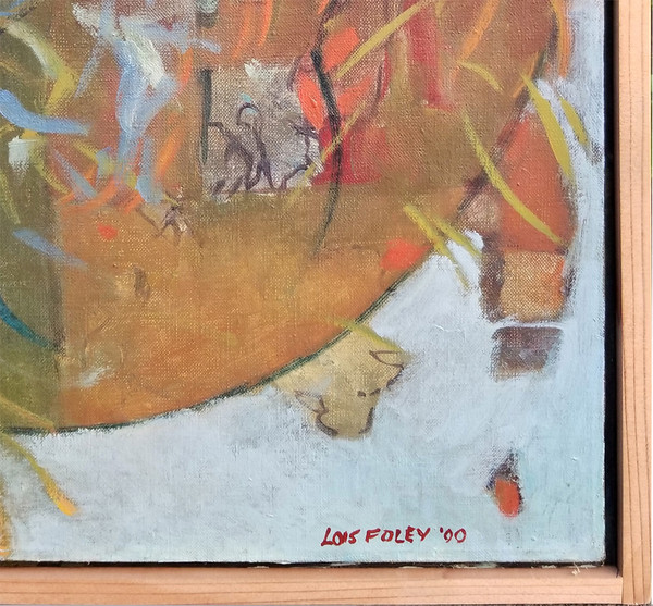 lower right detail of Mama Mom Mother Never Gone Abstract Oil on canvas by Lois Foley